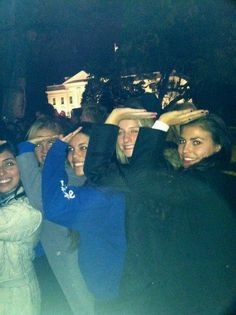 Beta Rho sophomores in front of the White House on Election Night 2012!