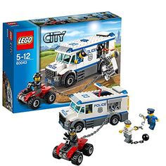 LEGO City 60043 Prisoner Transporter >>> Check this awesome product by going to the link at the image.