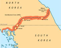 The border between North Korea and South Korea is not accepted as legitimate by either country.