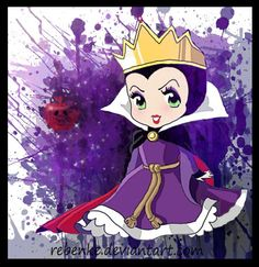 Chibi Evil queen by rebenke.deviantart.com on @deviantART