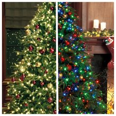 Clear Or Multi-Color Christmas Tree Lights-How About Both | DIY Home ...