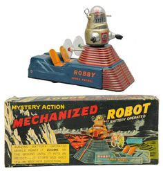 Robby Space Patrol Mechanized robot toy