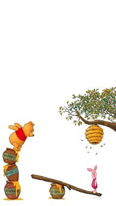 Winnie The Pooh Gif, Winnie The Pooh Drawing, Winnie The Pooh Pictures, Winne The Pooh, Funny Phone Wallpaper, Disney Phone Wallpaper, Cute Wallpaper Backgrounds, Wallpaper Bonitos, Wallpaper Aesthetic