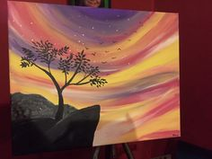 Bright Night by yours truly  #painting #forsale #meraki # art #handpainted