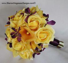 purple yellow boquet