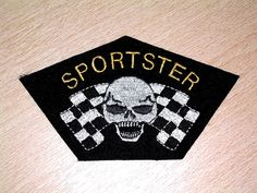 CLASSIC SPORTSTER SEW ON EMBROIDERED PATCH