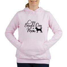 Crazy Beagle Dog Mom Womens Hooded Sweatshirt