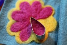 Needle Felting with Cookie Cutters 2 - Spotted Canary