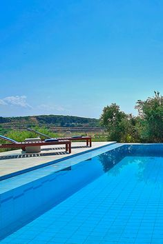 Enjoy your next #summer #holidays in a lovely #villa in Crete, that offers wonderful #nature views of the Cretan landscape! #crete #pool #travel #island #landscape #nature #courtyard #vacations #TheHotelgr