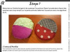 Tutoriel : balle de préhension à quartiers - Les Créations d'Aurélia B. Baby Toys, Kids Toys, Baby Crafts, Coin Purse, Creations, Patches, Crochet, Sewing, Women's Fashion