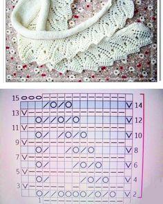 Кайма спицами. Красивая отделка пледа. | Блог про вязание | Яндекс Дзен Lace Knitting Patterns, Knitting Charts, Knitting Stitches, Baby Knitting, Stitch Patterns, Knitting Needles, Diy Crafts Knitting, Diy Crafts Crochet, Crochet Jacket