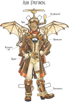 """From """"Steampunk Paper Dolls"""" -- another great cheap thrill from Dover Publications"""
