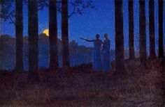 """The mystery of the night"" by Alphonse Osbert, 1897"