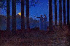 """The mystery of the night"" by Alphonse Osbert, 1897"