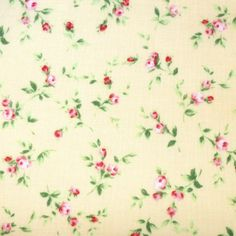 Lecien - Floral Collection - Yellow Rosebud �3.5 http://www.thehomemakery.co.uk/fabric/fabric-all/lecien-floral-collection-yellow-rosebud