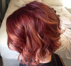 Red Caramel Hair Color - Best Color to Dye Gray Hair Check more at http://frenzyhairstudio.com/red-caramel-hair-color/