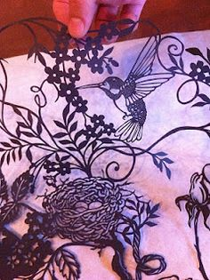 Love the delivate paper cut hummingbird  Detail of papel picado art by Jenya ~ crafted in Morelia, Mexico