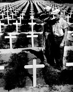 World War 2. ... Just one cemetery.... So many, so many, many many Americans. And every gravesite represnting a grieving family......