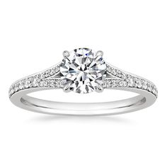 Ena Exquisite 925 Sterling Silver Engagement Ring