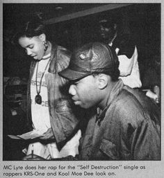 MC Lyte, KRS-One & Kool Moe Dee, 1989.