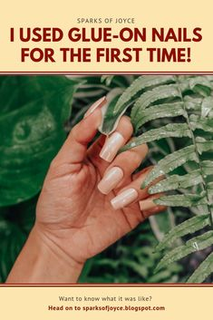 It's been a while since I last tried something new and somehow it feels liberating. I've been wanting to try glue-on nails ever . Glue On Nails, Try Something New, News Blog, The One, First Time, Feels, About Me Blog, Posts, Life