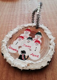 Personalized Hand Painted Snowman Family by Ellymayfly4Wildlife