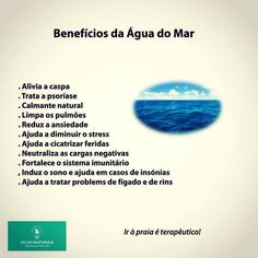 Benefícios da Água do Mar   www.dicasnaturais.com  #dicasnaturais #dicassaudaveis #dicas #saude #saudeebemestar #saudavel #mar #praia #agua #aguadomar #praiaesol #oceano #psoriase