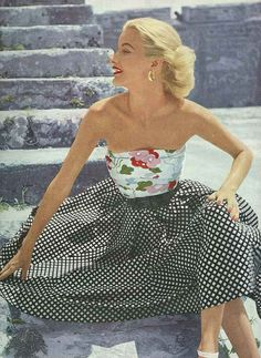 from British Vogue, July 1951. I want to make a dress like this!