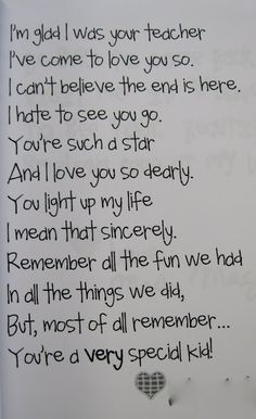 Good bye poem....this is what I would like to say to all my past students :)