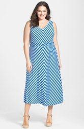 Calvin Klein Mitre raya Vestido Maxi (Plus Size)