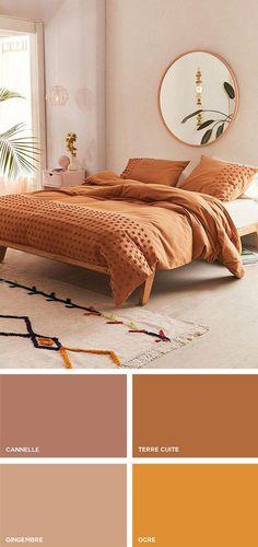 Couleurs et teintes en décoration Home Bedroom, Bedroom Wall, Bedroom Decor, Bedroom Colors, New Room, Home Decor Accessories, Home Decor Inspiration, Home Interior Design, Interior Livingroom
