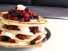 PANCAKE AU FRUITS ROUGES
