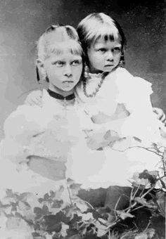 Princess Viktoria and Princess Sophie of Prussia. Sophie would become Queen of the Hellenes