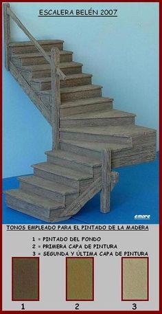 Escalera madera envejecida de Emore