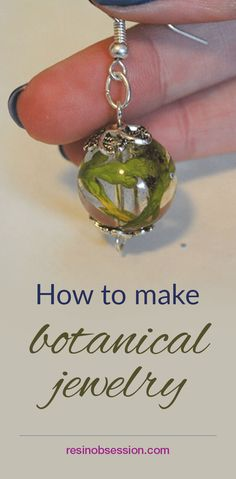 DIY botanical jewelry. How to make botanical jewelry with plants and petals from a wedding bouquet, flowers from your yard or memories from vacations. Make these beads with resin for earrings, necklaces, bracelets, even keychains. See instructions with step-by-step pictures and links to supplies used.