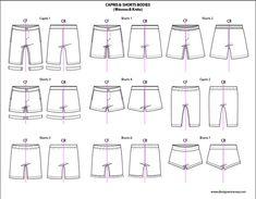 Kids Illustrator Flat Fashion Sketch Templates: Shorts - 850+ mix & match…
