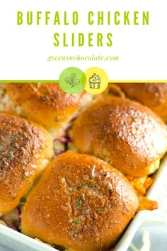Sliders are always great when there's a spread of food because you get the sandwich experience without commiting to a full-sized sandwiches. #sliders #chickensliders #buffalosliders #lunch | greensnchocolate.com @greenschocolate