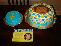 Monkey birthday & smash cake