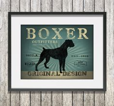 This lovely Rustic dog Wall Art makes a great addition to any room in the home and makes a fantastic gift for a special birthday, wedding anniversary, graduation or a thank you present. Your personalised wall art can be customised with your dog's name, place names, items, memories, dates...in fact anything you like! http://www.monkeyofthenorth.co.uk/product/boxer%20dog%20outfitters%20wall%20art