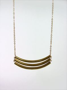 Stacked Brass Necklace