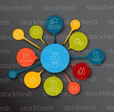 信息圖表 · 時間軸 · 報告 · 模板 · 氣泡 - 插圖 © Petr Vaclavek (orson) (#4455658) | Stockfresh