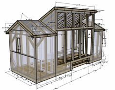 nice design for a small building or shed. This would make a nice workshop or studio with lots of windows in the center bay for plenty of natural light.