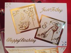 Tattered lace shoes & an embossing folder