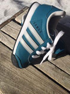 Adidas Samoa Toddler Size 6K Teal Athletic Shoe Mint Sample Free SHIP | eBay