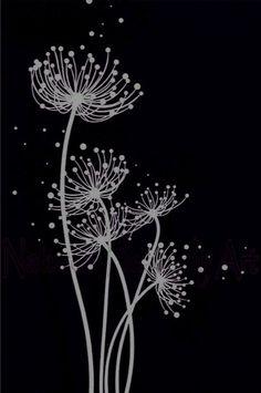 Best 12 Buy 'The Three Ballerinas' by Dianne English as a Poster, Throw Pill. Black Canvas Art, Black Canvas Paintings, Black And White Painting, Black White Art, Dandelion Drawing, Black Paper Drawing, Scratchboard Art, Scratch Art, Chalkboard Art