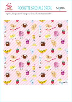 Super une pochette pour manger les crêpes comme quand chez le marchand de crêpes ! A imprimer sur Momes.net