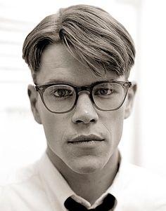 Matt Damon in glasses