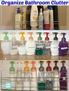 Ria's World of Ideas: Organize Bathroom Clutter