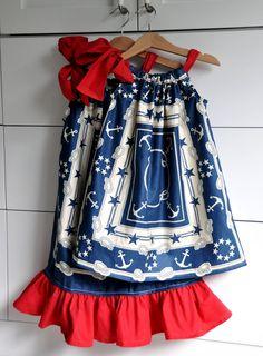 Patriotic Pillowcase Dresses Tutorial  Aethetic Nest  #tutorial #sewing #pillowcase #dress #patriotic