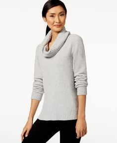 Style /& Co Womens Plush Cowl Neck Sweater